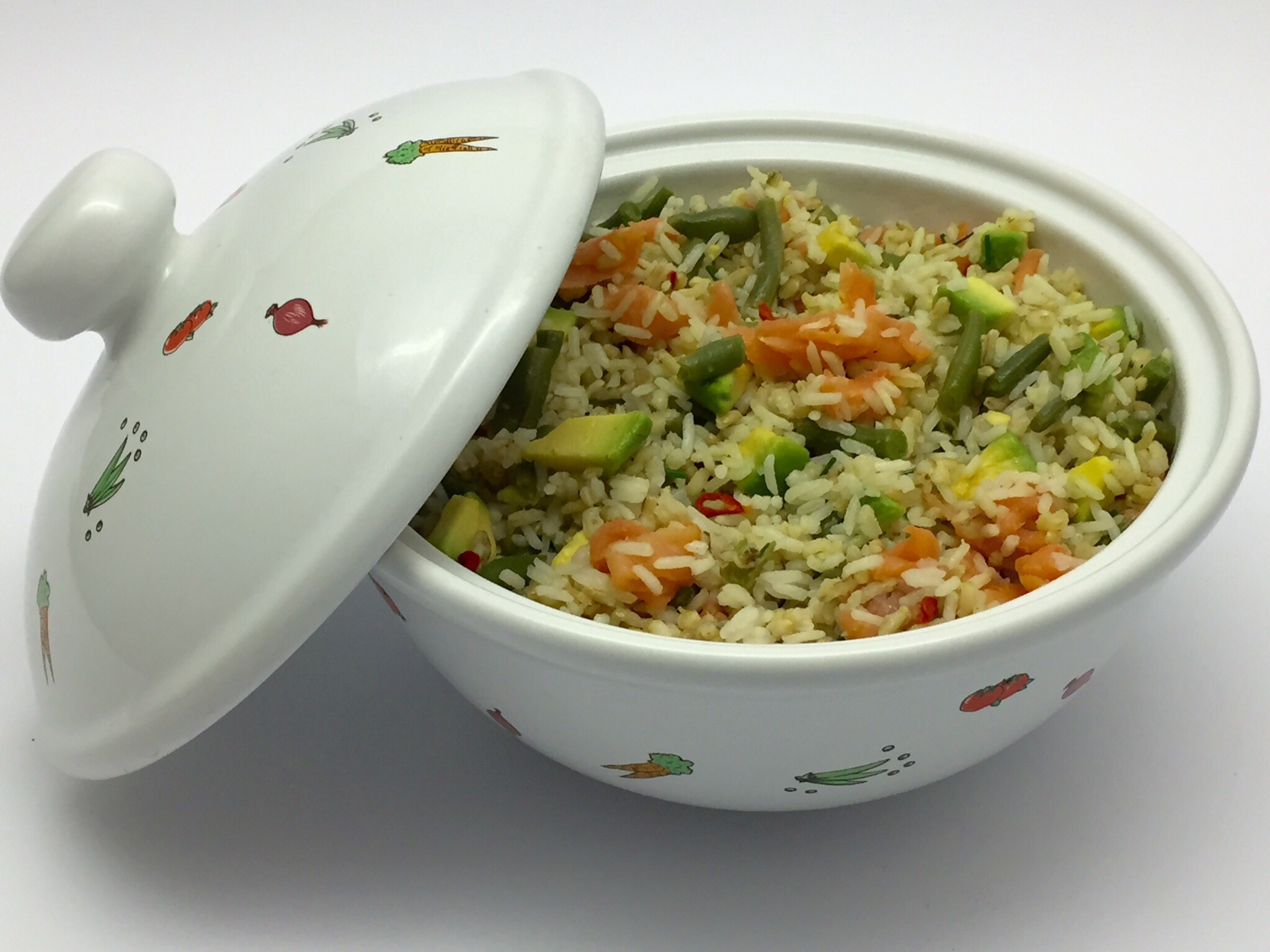 17 agosto 2015  - Insalata di riso senza glutine con avocado e salmone