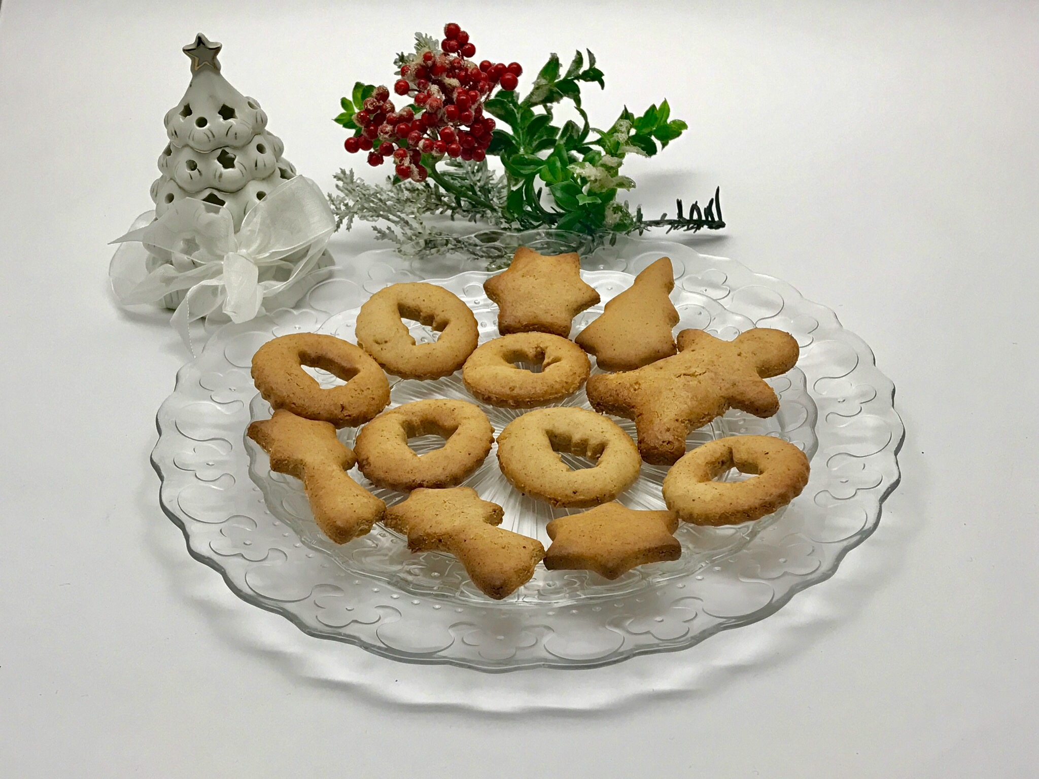 23 dicembre 2016  - Biscotti di Natale, senza glutine, senza burro e senza uova