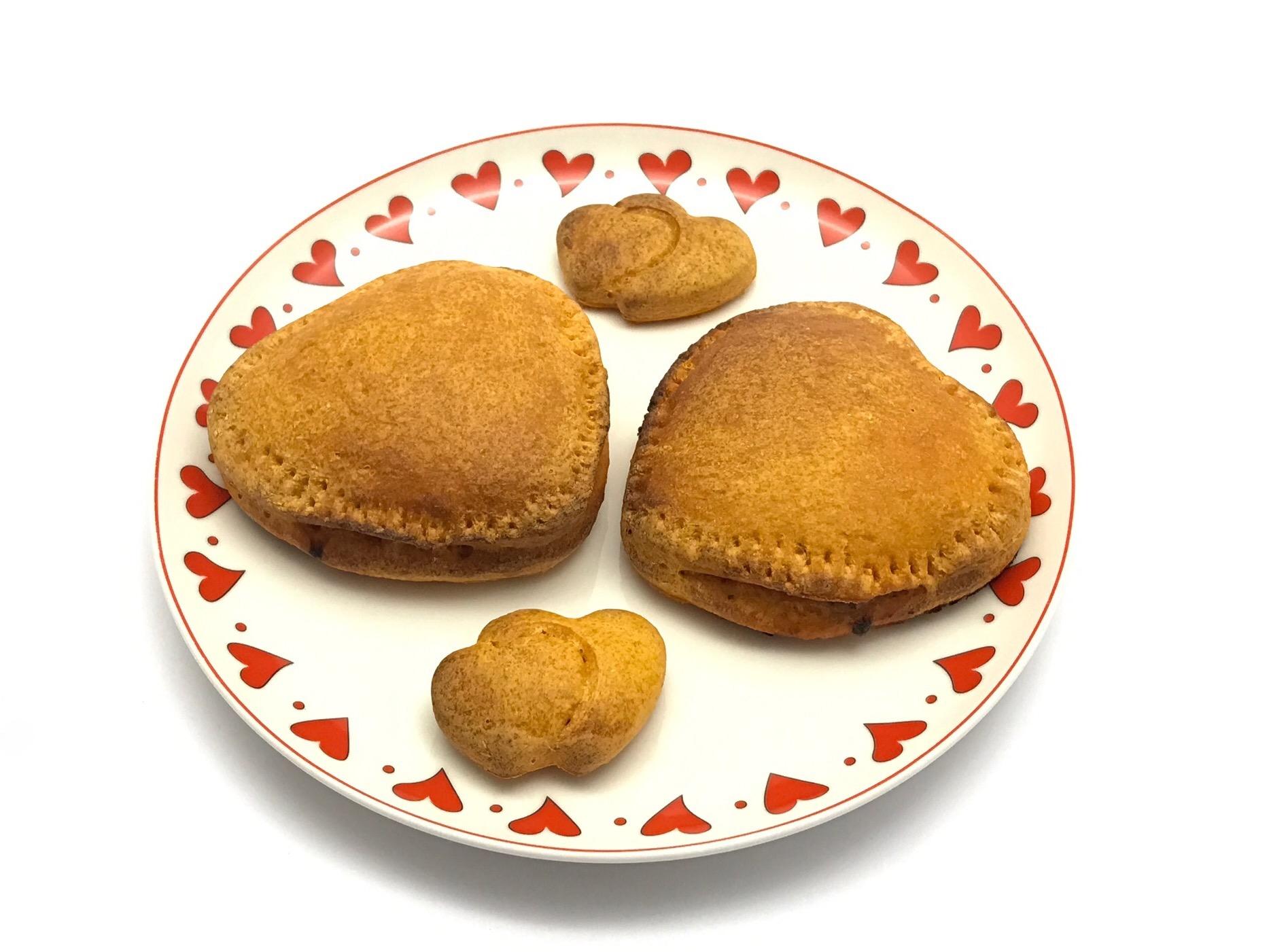12 febbraio 2017  - San Valentino: Cuori di pane senza glutine con pera e Stilton e risotto per due